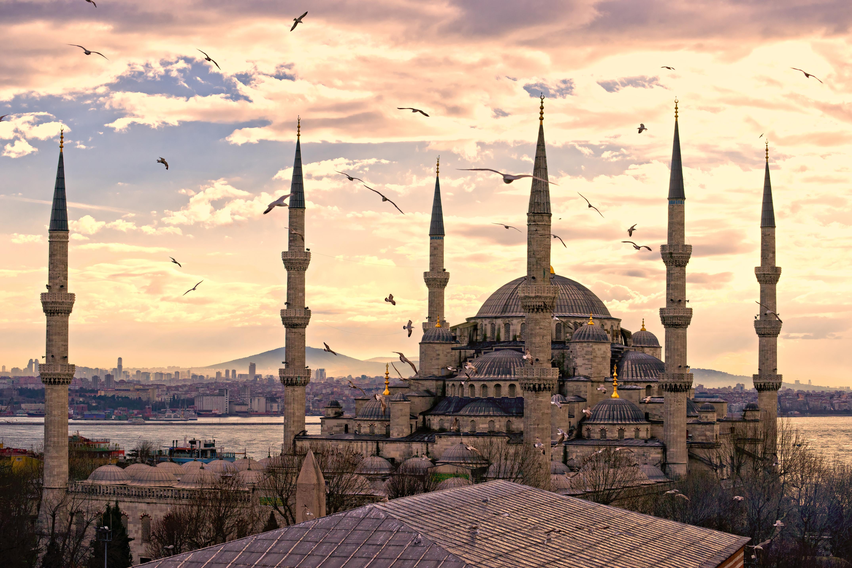 Вид на мечеть в Стамбуле, столице Турции, ВНЖ которой могут получить иностранцы