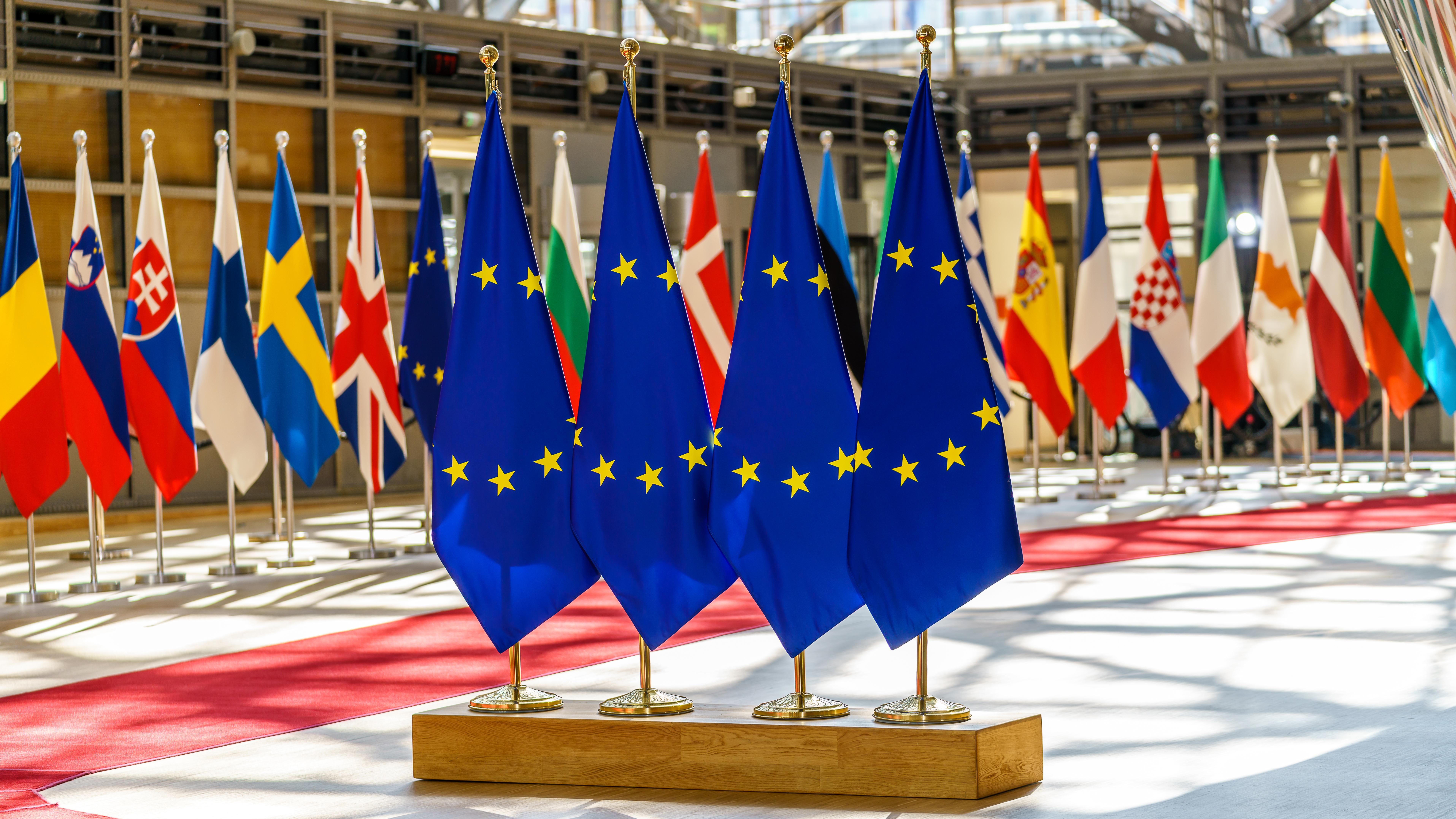 Флаги ЕС и других стран, в которых можно оформить европейский ВНЖ