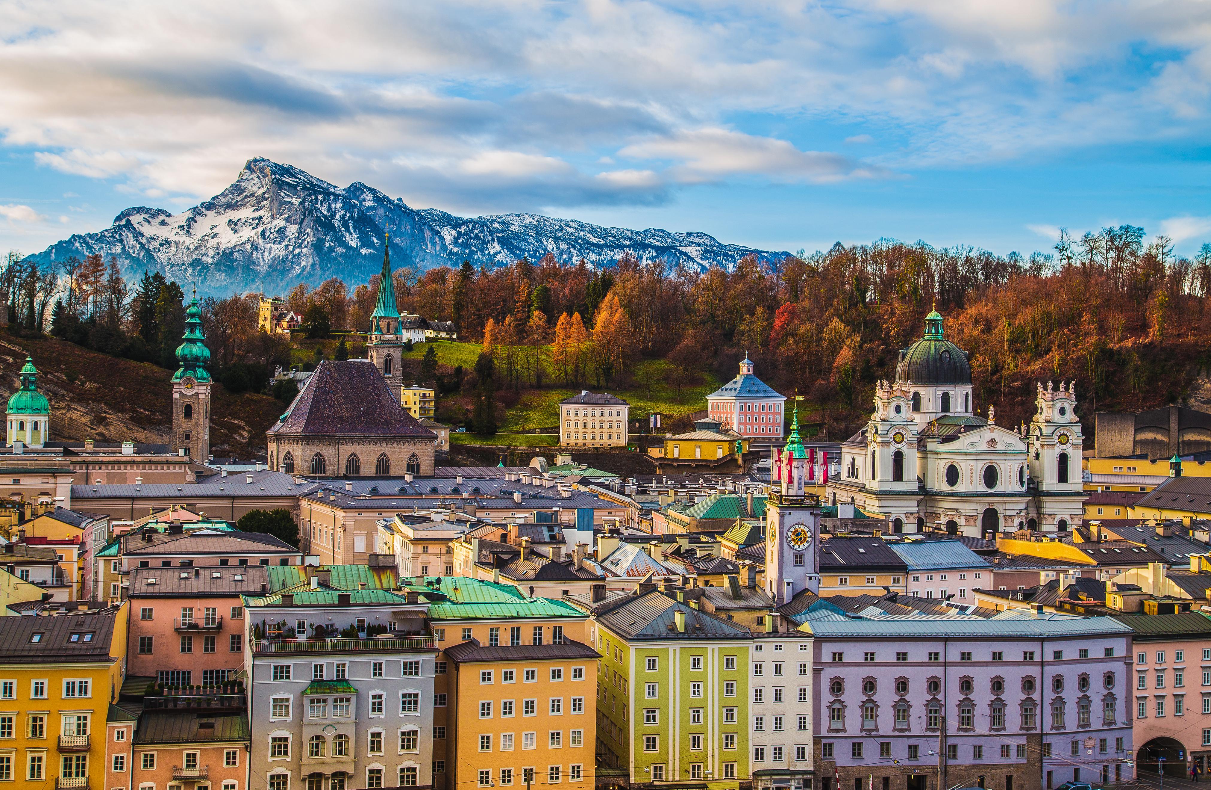 Зальцбург, город в Австрии, стране, недвижимость в которой могут купить иностранцы
