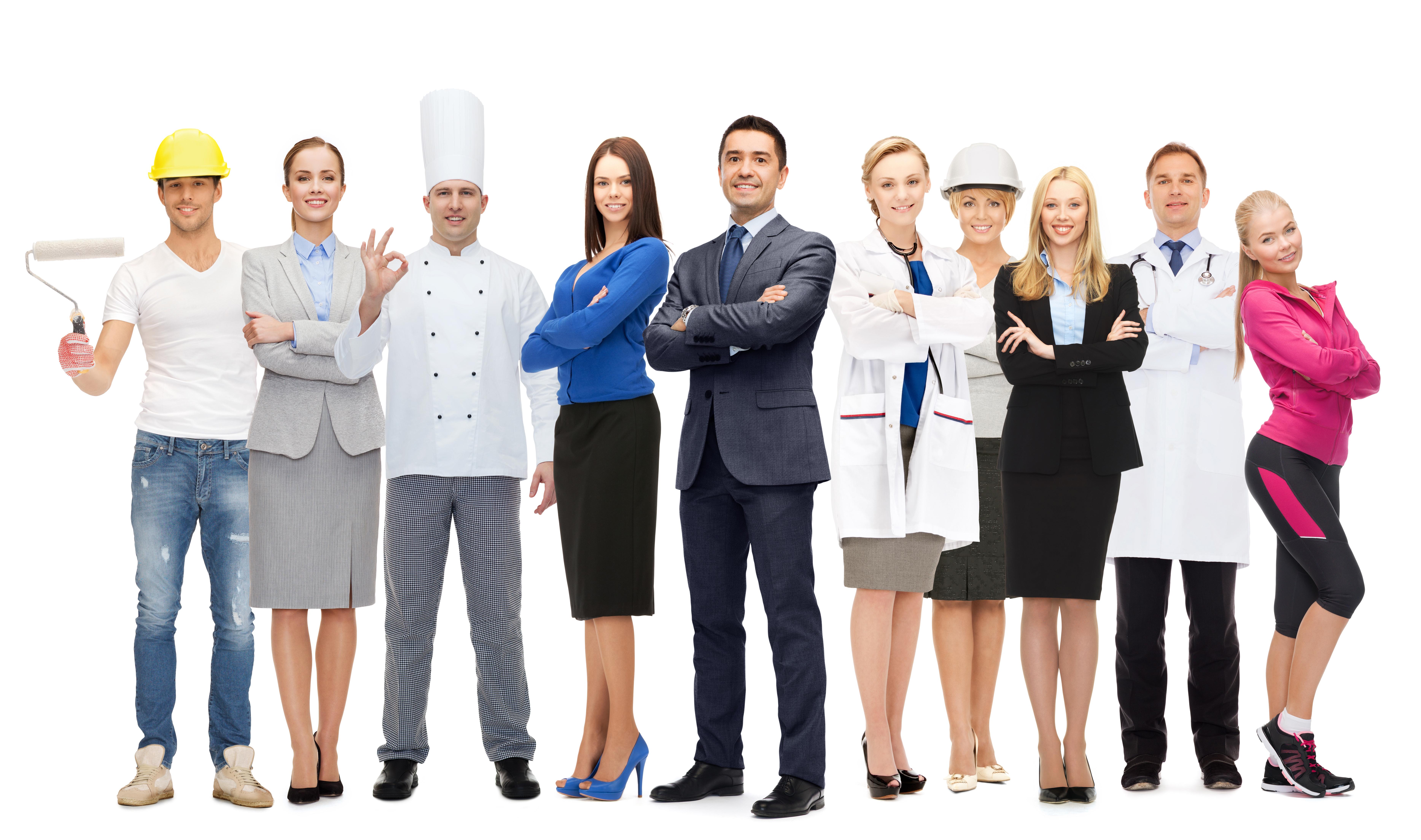 Представители самых популярных профессий в Европе