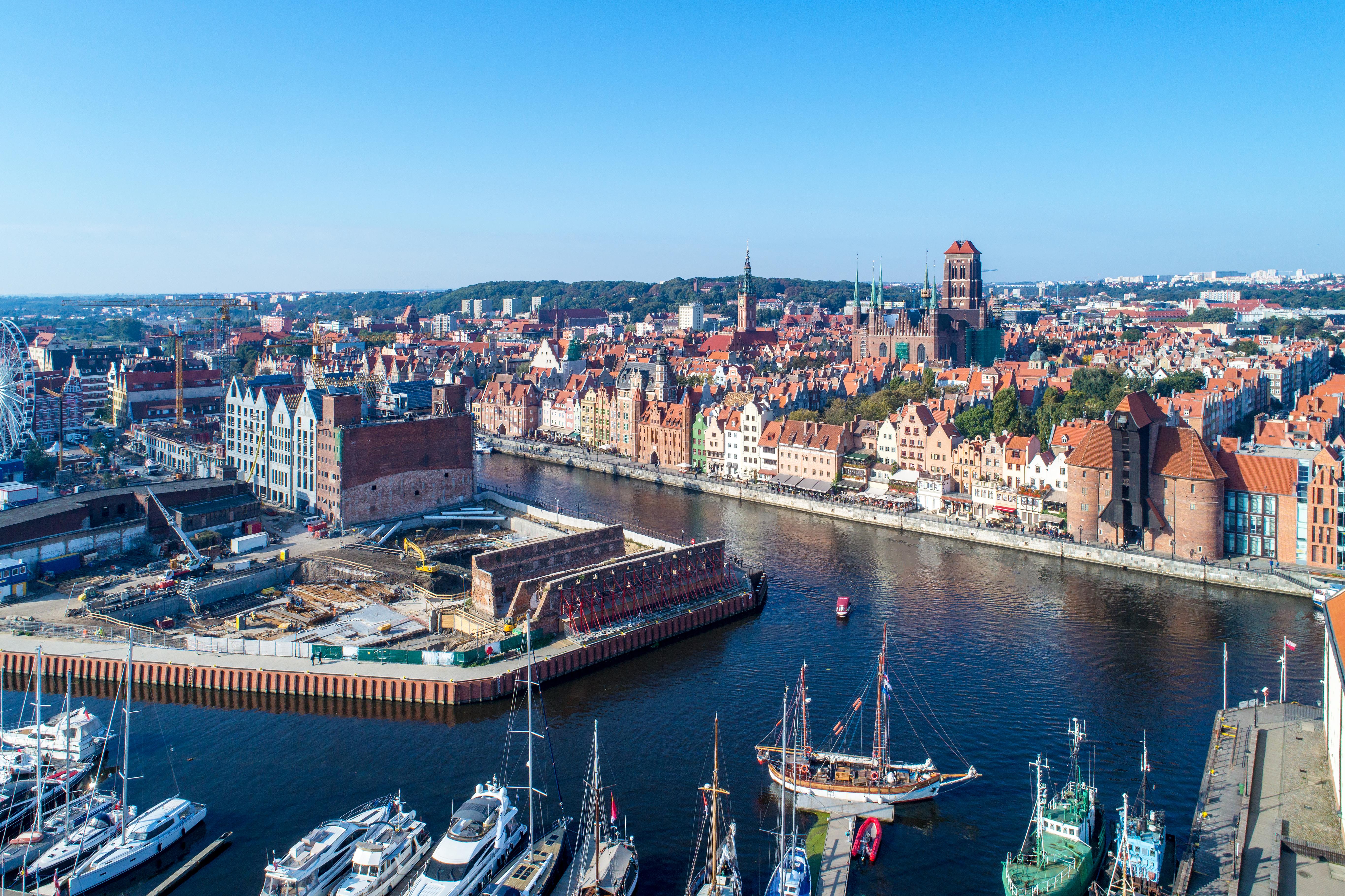 Город Гданьск в Польше, где предпочитают работать белорусы, украинцы и русские
